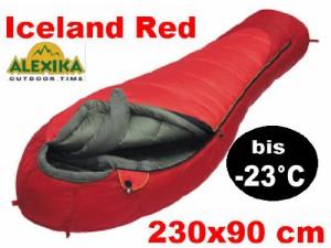 schlafsack -20 grad-alexika extrem mumienschlafsack-iceland red
