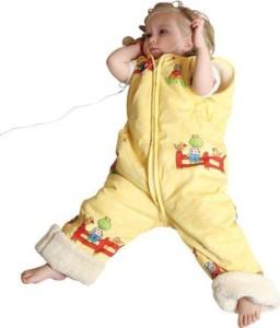 schlafsack mit beinen-Babies & Kids-Öko-Schlafoverall-Spielplatz-gelb-Baumwollplüsch