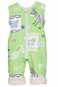 schlafsack mit beinen-Babies & Kids-Öko-Schlafoverall-Safari-grün-Baumwollplüsch
