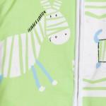 schlafsack mit beinen-Babies & Kids-Öko-Schlafoverall-Safari-grün-Baumwollplüsch-zebra