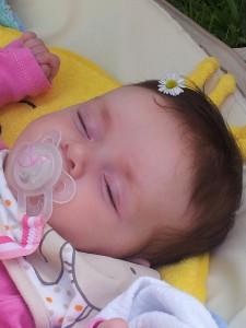 bubou schlafsack–baby-mädchen-haarspange-schnuller-nuggi